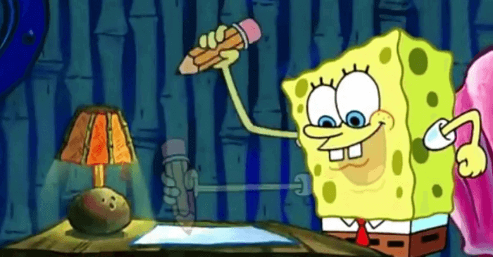 SpongeBob's Paper Writing